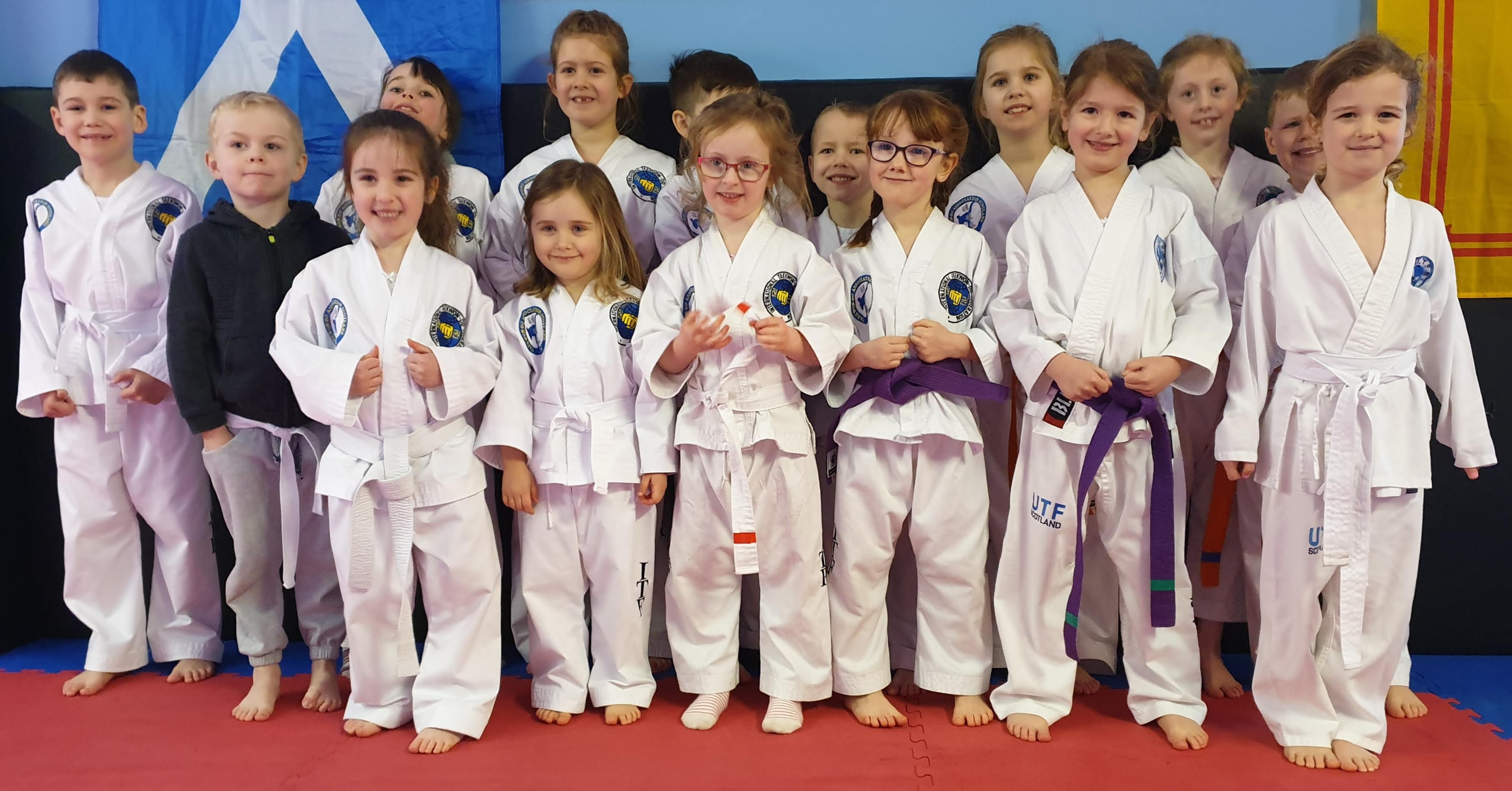March 2020 Coloured Belt Grading - Rainbows