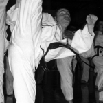 Mr. Scott demonstrating Turning Kick