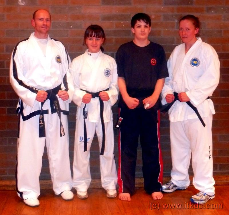 Four New Intrepid Black Belts