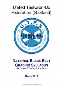 1st Gup to Black Belt National Syllabus